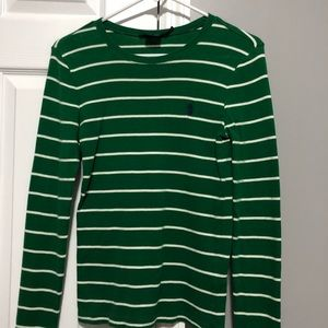 Green striped Ralph Lauren shirt